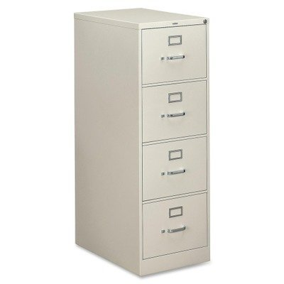310 Series Four-Drawer, Full-Suspension File, Legal, 26-1/2d, Light gray