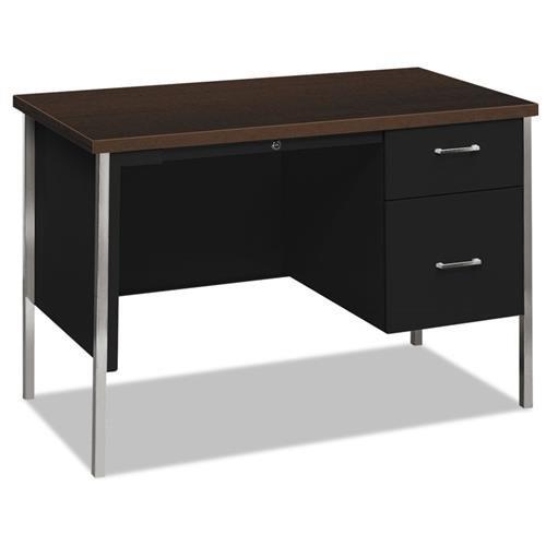 34000 Series Right Pedestal Desk, 45 1/4w x 24d x 29 1/2h, Mocha/Black
