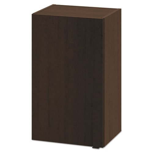 Hospitality Wall Cabinet, One Door, 18w x 14d x 30h, Mocha