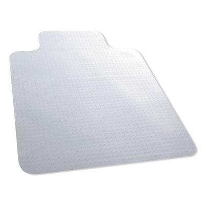 """Carpet Surface Chair Mat, Lip, 36"""" x 48"""", Clear"""