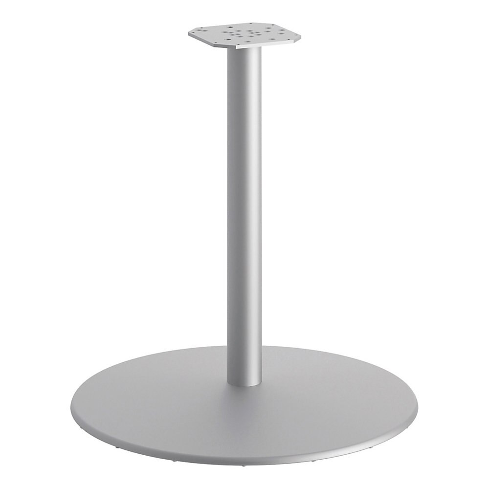 "Between Round Disc Base for 30"" Table Tops, Textured Silver"