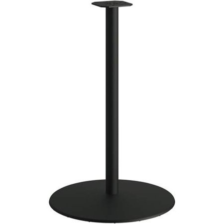 "Between Round Disc Base for 42"" Table Tops, Black Mica"