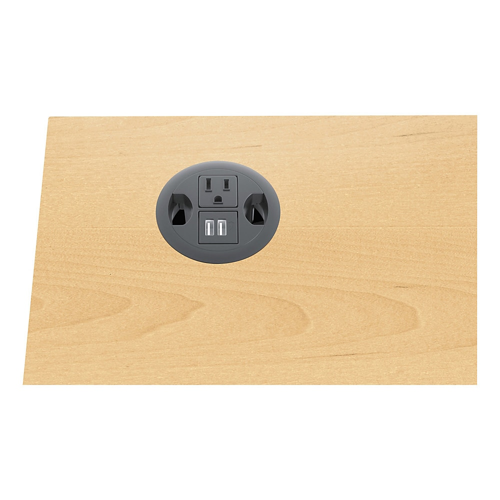 "USB AC Power Hub Grommet, 3"" Diameter, Black"