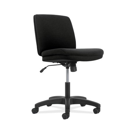 "Network Low-Back Armless Chair, 18.7"" x 16.5"" x 21.5"", Supports up to 250 lbs., Black Seat/Back and Base"