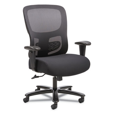 1-Fourty-One Big & Tall Mesh Task Chair, Black Fabric Seat, Supports 350 lb
