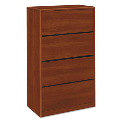 10700 Series Four Drawer Lateral File, 36w x 20d x 59 1/8h, Cognac