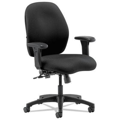 7800 Series Mid-Back Task Chair, Black