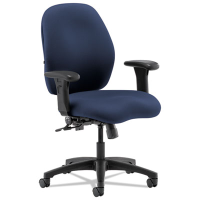 7800 Series Mid-Back Task Chair, Navy