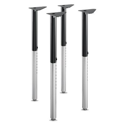 """Build Adjustable Post Legs, 22"""" to 34"""" High, Black, 4/Pack"""