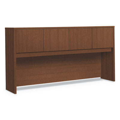 Foundation Hutch with Doors, Compartment, 72w x 14.63d x 37.13h, Shaker Cherry