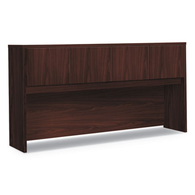 Foundation Hutch with Doors, Compartment, 72w x 14.63d x 37.13h, Mahogany