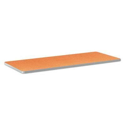 Build Rectangle Shape Table Top, 60w x 24d, Tangerine