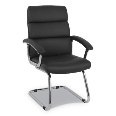 """Traction Guest Chair, 20.1"""" x 27.2"""" x 39.3"""", Black Seat/Black Back, Chrome Base"""