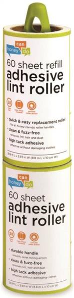 Honey-Can-Do LNT-03769 Lint Roller With Refill, 60 Sheet