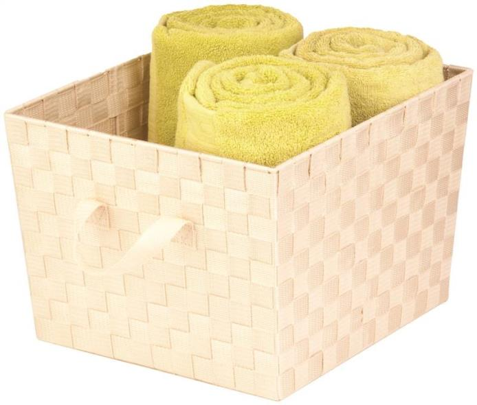 Honey-Can-Do STO-02983 Task-It Storage Baskets, Creme