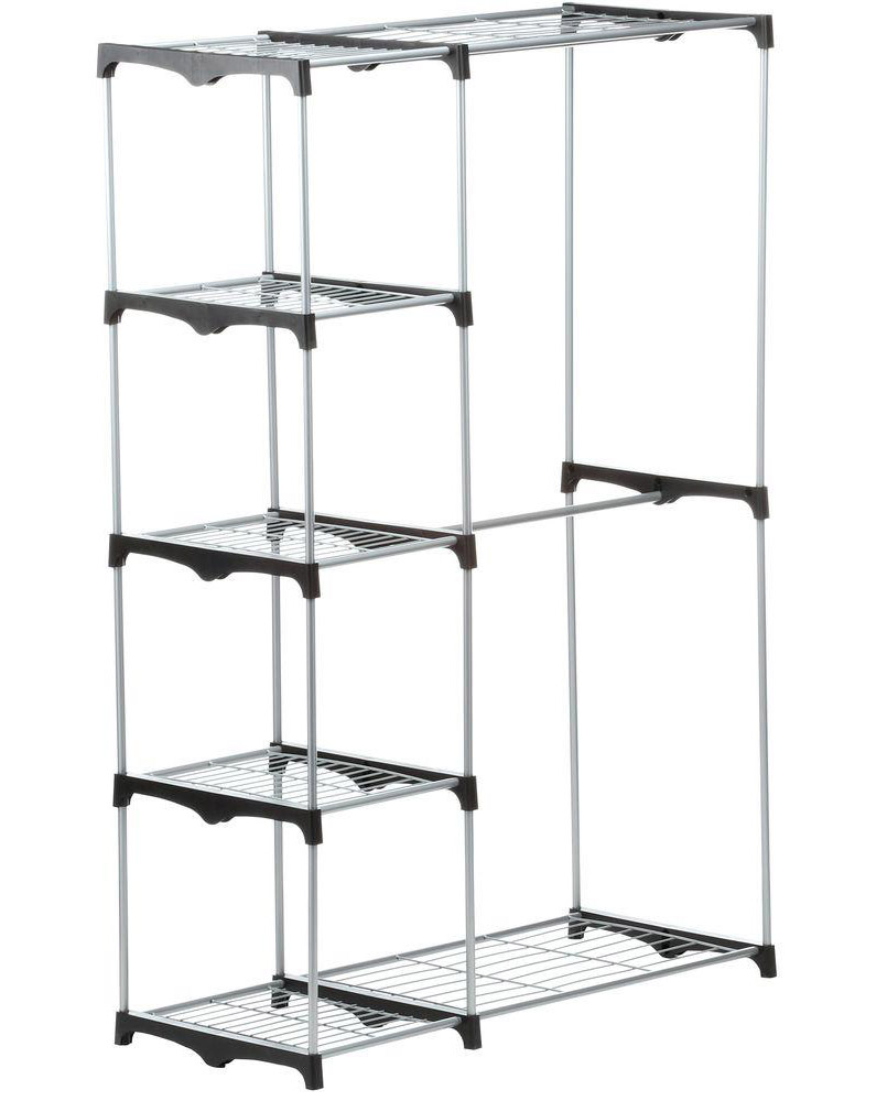 CLOSET FREESTANDING DOUBLE ROD