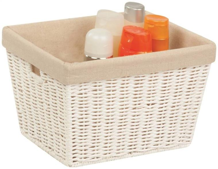 Honey-Can-Do STO-03560 Storage Baskets, Parchment Cord, White