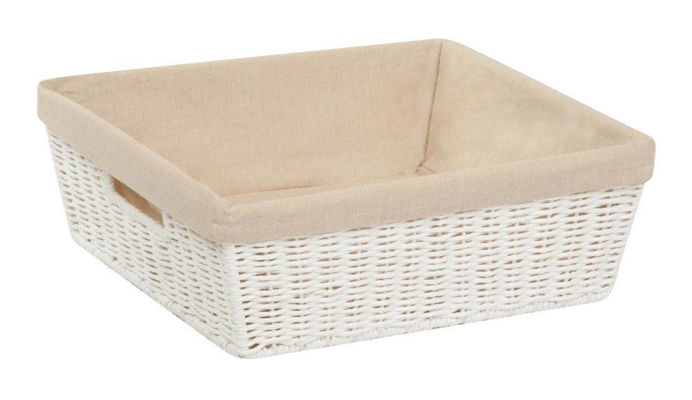 Honey-Can-Do STO-03559 Storage Baskets, Parchment Cord, White