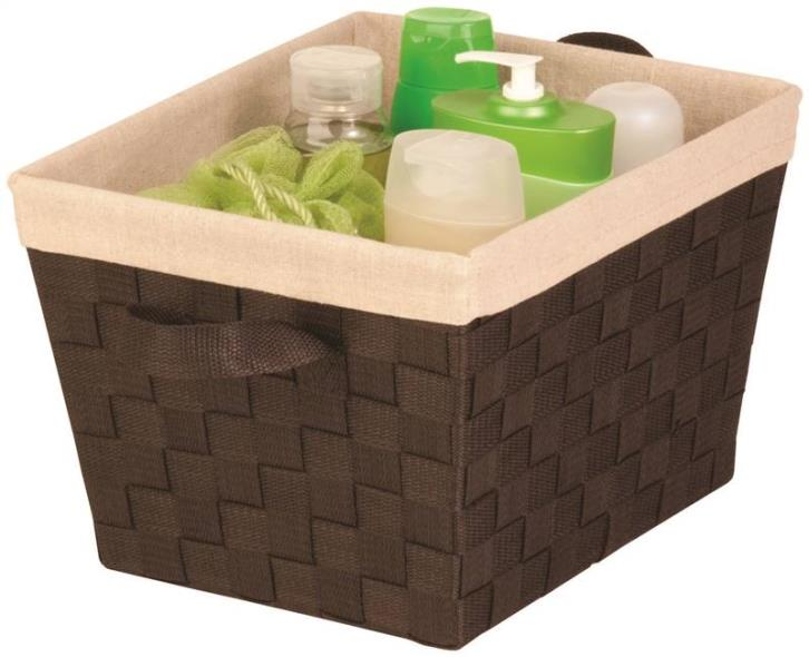 Honey-Can-Do STO-02985 Task-It Storage Baskets, With Liner, 13 In L x 15 In W x 10 In H