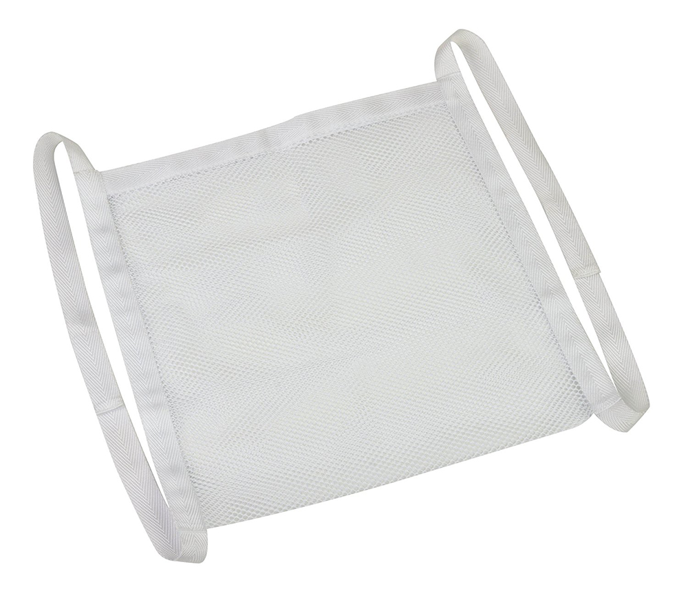 Honey-Can-Do LBG-03006 Mesh Design Shoe Wash Bag With Hook and Loop Enclosure, 14-1/2 in L x 5.91 in D, Mesh, White