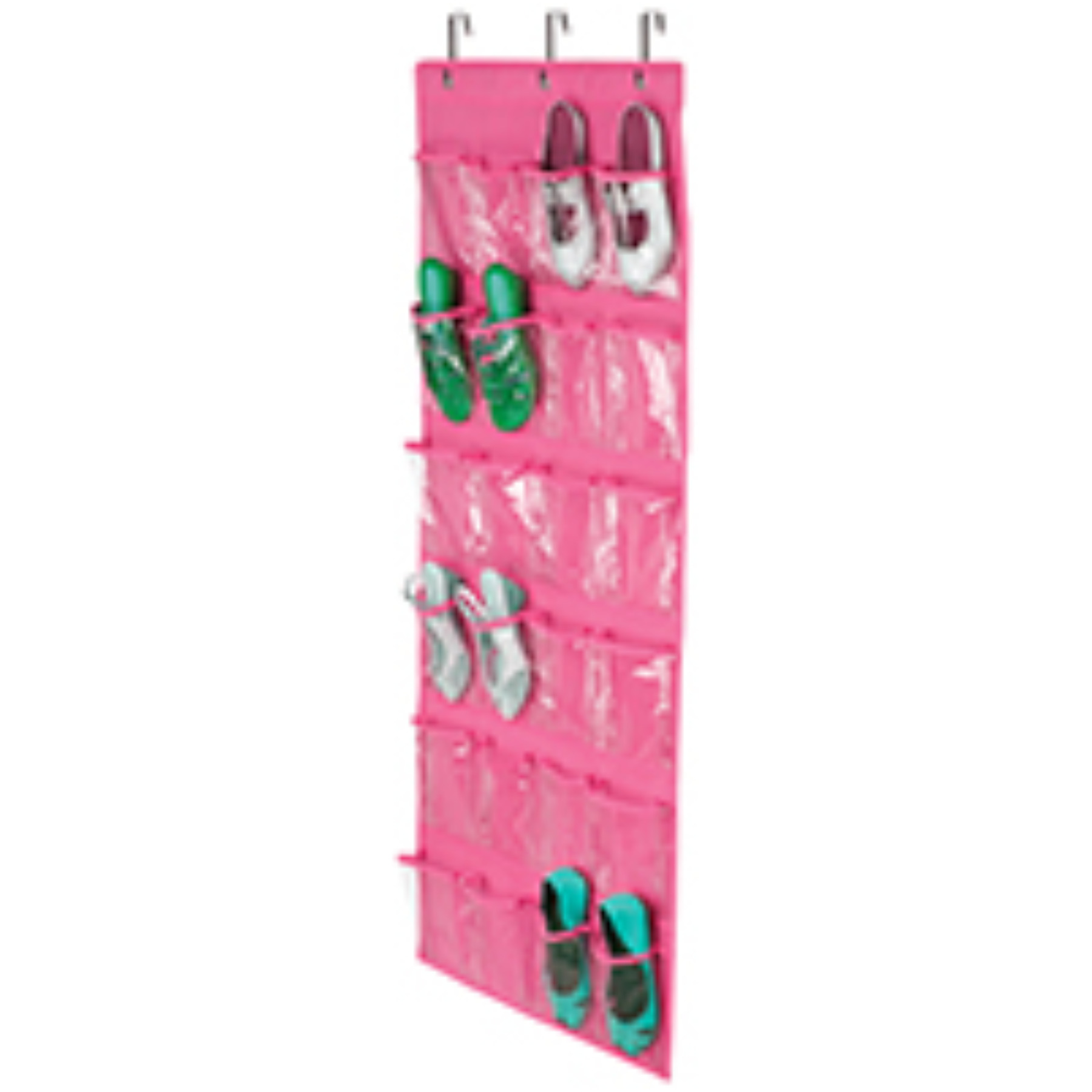 Honey-Can-Do SFT-01642 24-Pocket Over-The-Door Closet Organizer, 57 in L x 19 in W x 1 in D, Pink