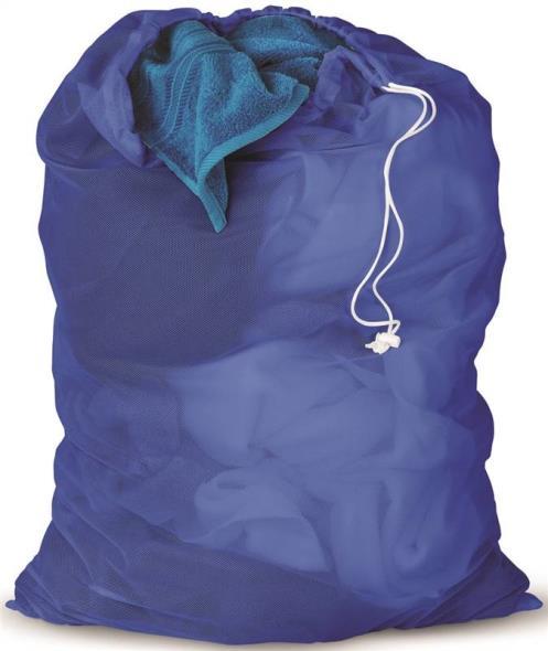 BAG LAUNDRY MESH BLUE 24X36