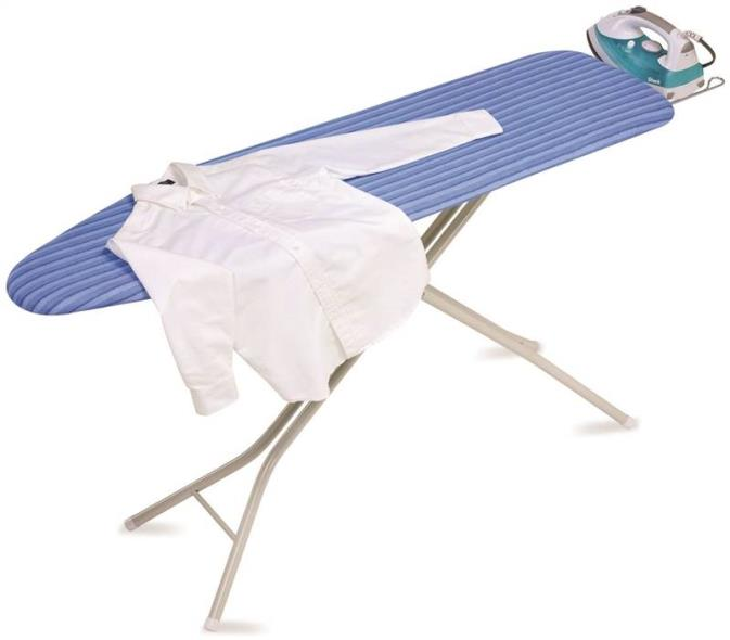 Honey-Can-Do BRD-01956 Quad Legs Quad Leg Ironing Board With Retractable Iron Rest, 54 in L x 15 in W x 36-1/2 in H