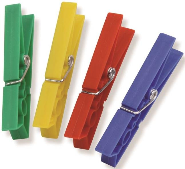 CLOTHESPIN PLASTIC SPRING 24PK