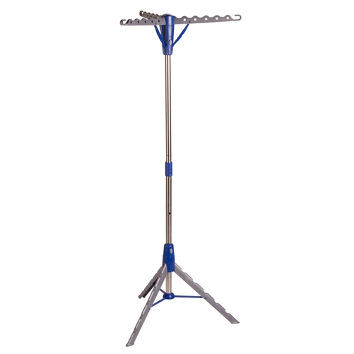 Honey-Can Do DRY-02118 Foldable Tripod Air Drying Rack, 26 in L x 26 in W x 64-1/2 in H, Steel, Gray/Blue
