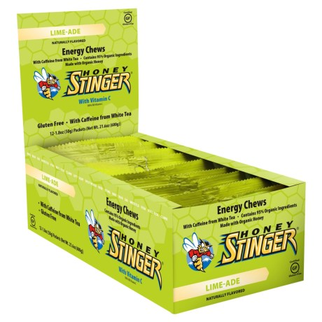Honey Stinger Chew Limeade 12 Pack (Caffeina