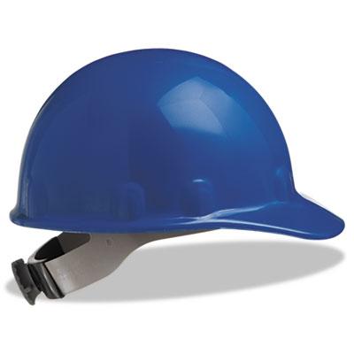 E-2 Cap Hard Hat With Ratchet Suspension, Blue