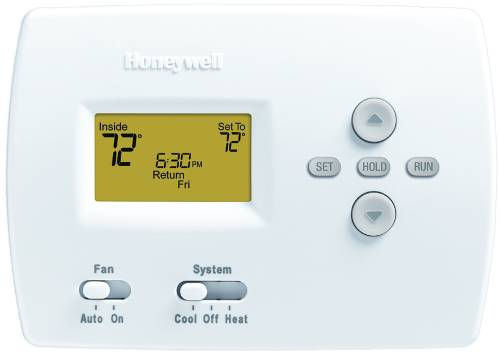 HONEYWELL PRO 4000 5-2 PROGRAMMABLE DIGITAL THERMOSTAT, 1 HEAT/1 COOL, WHITE