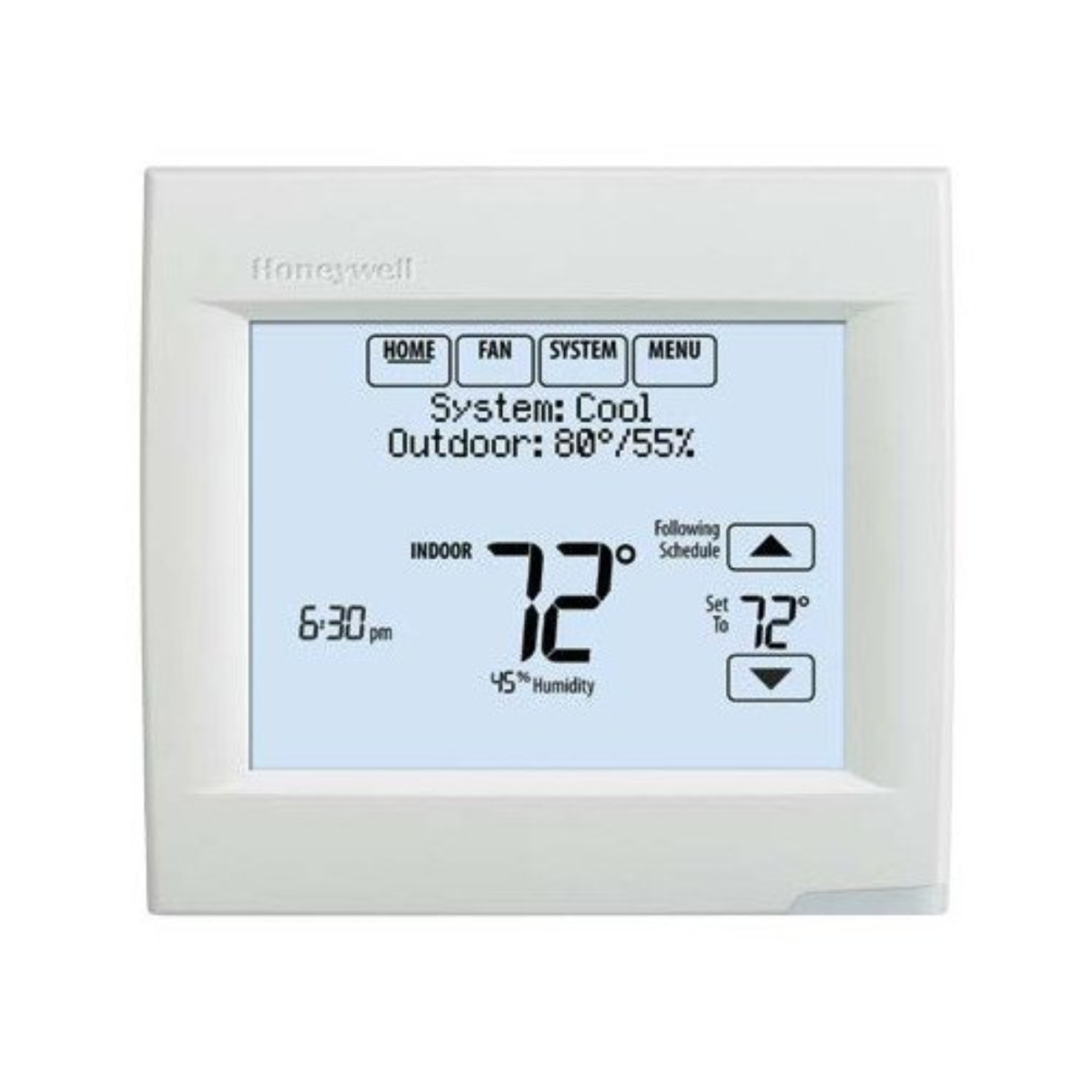 HONEYWELL UNIVERSAL PROGRAMMABLE THERMOSTAT, 2 HEAT/3 COOL, ARCTIC WHITE