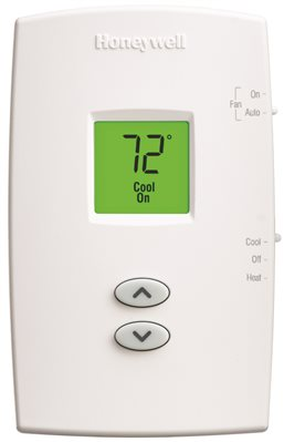 HONEYWELL PRO 1000 HEAT PUMP THERMOSTAT, VERTICAL, NON-PROGRAMMABLE, PREMIER WHITE�