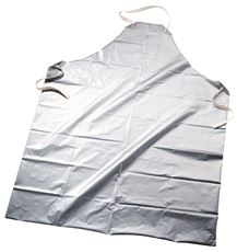 SILVER SHIELD� POLYETHYLENE CHEMICAL-RESISTANT APRON, SILVER, 45 IN., 2.7 MIL