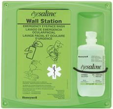 EYESALINE� STERILE EYEWASH WALL STATION, SINGLE 16 OZ., 8 PER CASE
