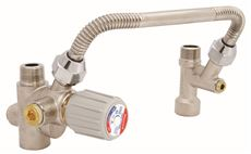 HONEYWELL DIRECT CONNECT WATER HEATER KIT INCLUDING VALVE, TEE, AND 8 IN. FLEX CONNECTOR