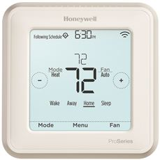 HONEYWELL� LYRIC T6 THERMOSTAT, 3 HEAT / 2 COOL HEAT PUMP OR 2 HEAT / 2 COOL CONVENTIONAL