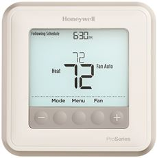 HONEYWELL� T6 PRO PROGRAMMABLE THERMOSTAT, 2 HEAT / 1 COOL HEAT PUMP OR 1 HEAT / 1 COOL CONVENTIONAL