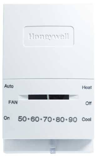 HONEYWELL� 1 HEAT/1 COOL NON-PROGRAMMABLE THERMOSTAT, WHITE