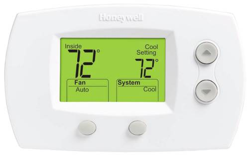 PRO 5000 TWO HEAT/ONE COOL NON-PROGRAMMABLE DIGITAL THERMOSTAT, WHITE