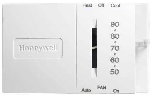 HONEYWELL SINGLE-STAGE THERMOSTAT, 24 VOLTS, WHITE