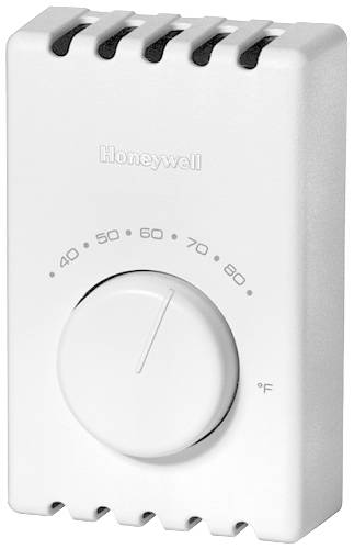 THERMOSTAT T41 ELECTRIC HEAT, DOUBLE POLE, WHITE
