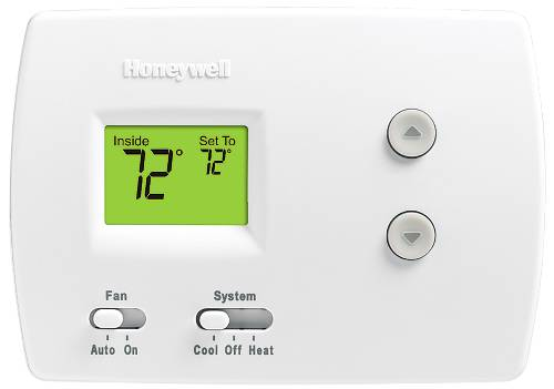 PRO 3000 1 HEAT/1 COOL NON-PROGRAMMABLE DIGITAL THERMOSTAT, WHITE