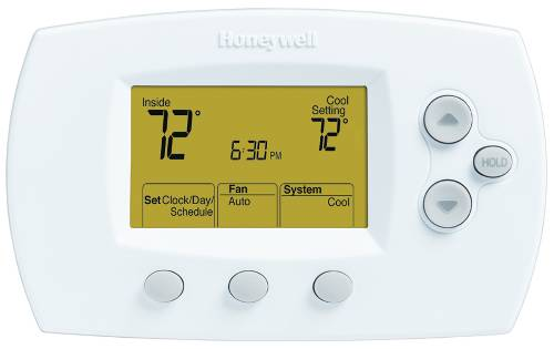 HONEYWELL 5-1-1 PROGRAMMABLE DIGITAL THERMOSTAT, 2 HEAT/2 COOL