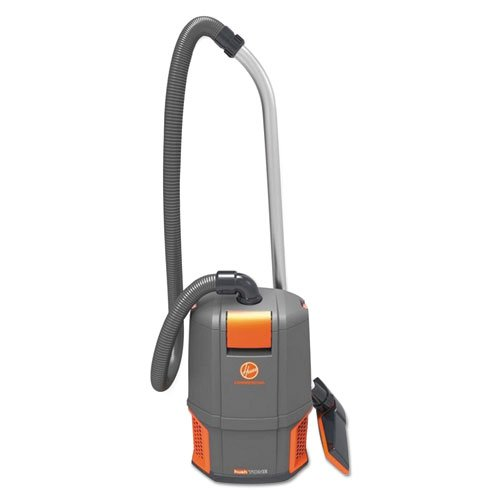 HushTone Backpack Vacuum Cleaner, 11.7 lb., Gray/Orange