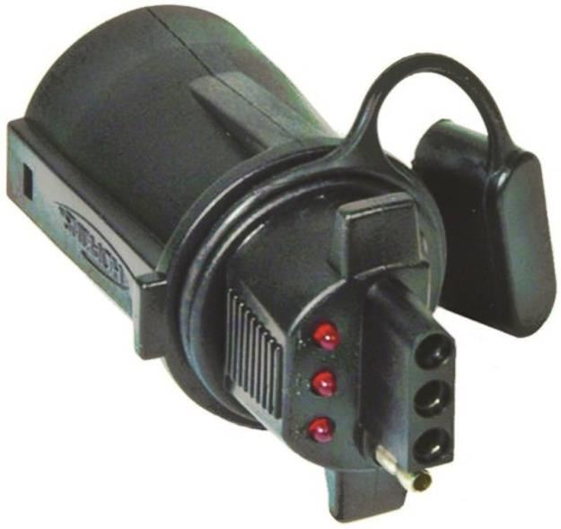 ADAPTER CONN 7RV TO 4FLT W/LED