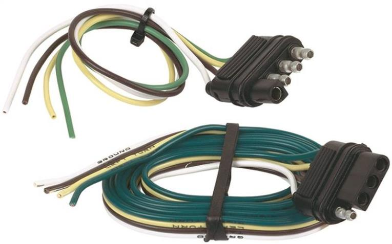 Hopkins 48215 4-Way Flat Trailer Connector Set, 5 Pieces, 48 in Vehicle End, 12 in Trailer End