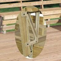 Deckmate 90166 Deck Bench Bracket with Bench Bracket, Structural Resin