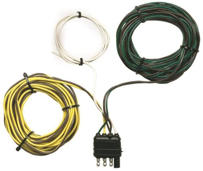 Hopkins 48245 Flat Y-Harness Trailer Wire Connector, 4 Wire, ABS Plastic